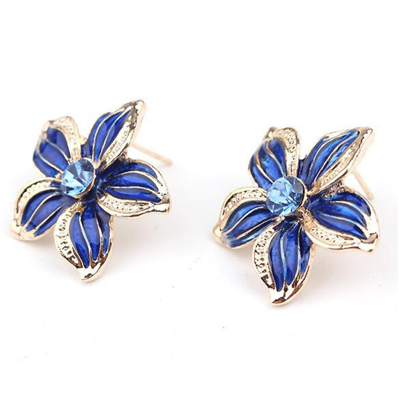 Crystal Enamel Flower African Maxi Statement Jewelry