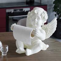 Harz Engel Tissue box halter für esstisch küche büro schreibtisch Rolle Papier Nette Tissue box Skulptur moderne kunst home decor