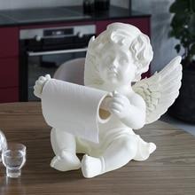 Resin Angel Tissue box holder for dinning table kitchen office desk Roll Paper Cute Tissue box Sculpture modern art home decor цены