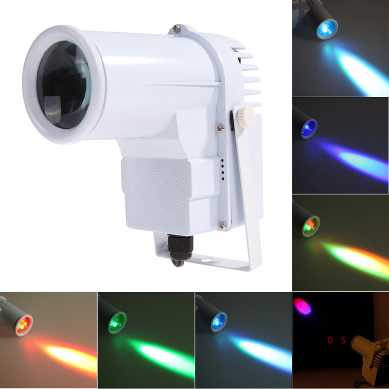 Hot 9W LED RGB Spots Light DMX Stage Lights 3 Color Changing Mini DJ Stage Effect Lighting Strobe Effects US/EU Plug White/Black robot style keychain w white led light sound effect black 3 x ag10