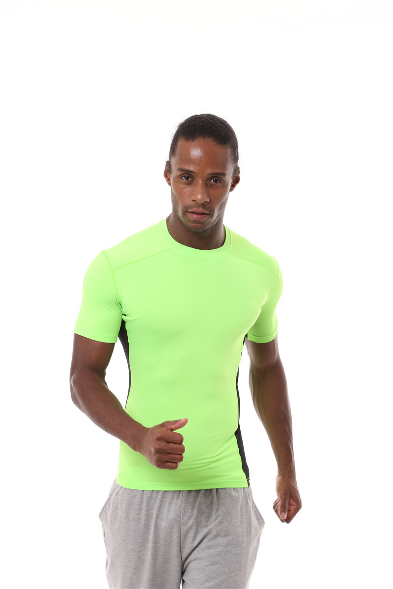 ELI22 18429 Fitness Sport T Shirts Solid Short Sleeve Homme T Shirts Running Clothing Gym Breathable Compression Quick-dryingELI22 18429 Fitness Sport T Shirts Solid Short Sleeve Homme T Shirts Running Clothing Gym Breathable Compression Quick-drying