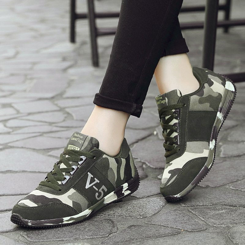 VTOTA Women Breathable Tenis Feminino Lace Up Outdoor Casual Shoes Camoflage Woman Vulcanized Sneakers Women Shoes Plus Size 44