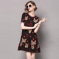 High Street Fashion Summer Woman Dress 2017 Womens Short Sleeve Designer Runway Dresses Plus Size Casual