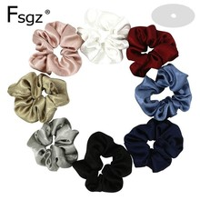 Good Quality Hair Scrunchies For Women Large Size Silk Scrunchie Ponytail Donut Elastic Bands Accessories
