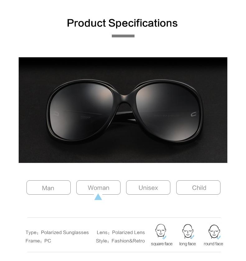 3c95b4f644 VEGOOS Luxury Brand Designer Polarized Sunglasses women Driving Sun ...