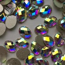 Crystal Glitter 4*6mm,6*8mm AB Crystal Flat Back Nail Art Rhinestone Manicure Tips Charms 3D Shiny DIY Nail Crystal Decoration