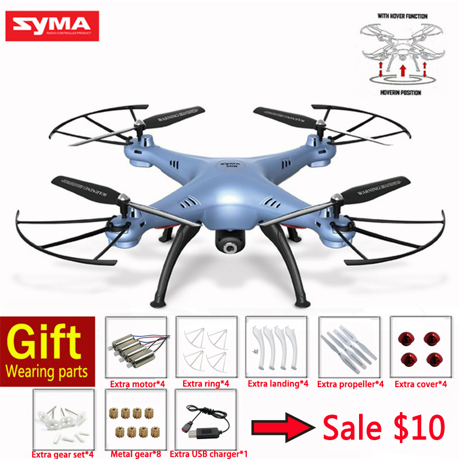 Syma X5HW Toys RC Quadcopter Drone With Camera FPV 2.4G 6-Axis RC Helicopters Pressure High Mode UAV Best Gifts For Kids syma x5hw fpv rc quadcopter drone with