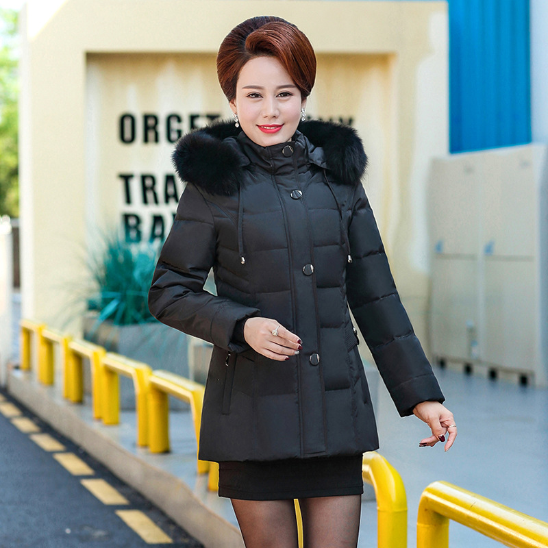 2017 Women Cotton-padded Jacket Women Winter Jacket Medium Long Slim Fur Collar Parkas Women Large Size Hooded Warm Coat 6XL winter jacket female parkas hooded fur collar long down cotton jacket thicken warm cotton padded women coat plus size 3xl k450