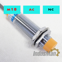 (5PCS) LJC18A3-B-J/DZ M18 Two Wire AC NC 1-10mm distance measuring capacitive proximity switch sensor
