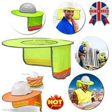 Солнцезащитный Светоотражающий козырек для защиты лица и шеи, полная защита полостей для безопасности, строительная каска, защитный шлем для работников