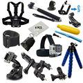 Gopro accesorios conjunto monopie trípode pecho cinturón head mount correa go pro hero4 negro edición 3 sjcam sj4000 xiaoyi eken h8 h9 H9R