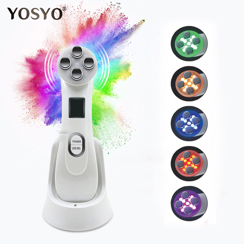 LED Photon Skin Rejuvenation EMS Mesotherapy Electroporation Facial RF Radio Frequency Skin Care Tighten Lifting Massage Machine skin care mesotherapy beauty device lifting face facial electroporation rf radio frequency skin rejuvenation tighten machine