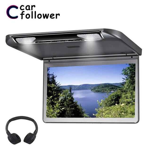 13.3 بوصة السقف التلفزيون كامل HD 1920*1080 فليب أسفل سيارة مقعد شاشة السيارات مشغل ديفيدي مع HDMI/USB /SD/IR/FM الارسال MP5 رصد