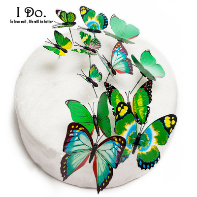 PVC Butterfly Wedding Cake Decoration