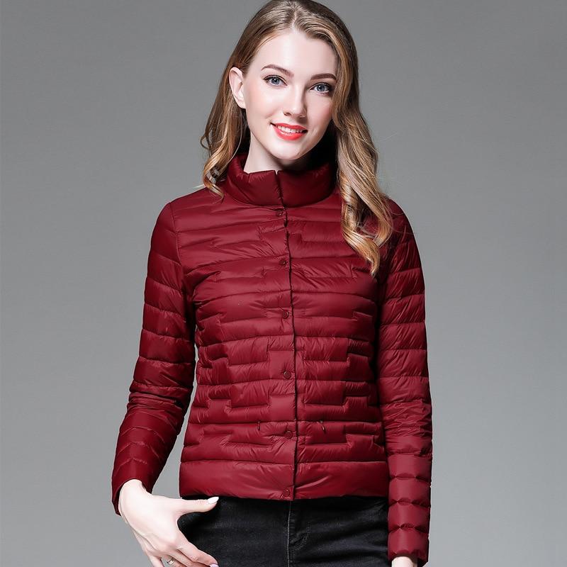 Women's   down   jacket White Duck   Down     Coat   Slim Ultra Light Jacket female Jacket Portable Windproof   Coat