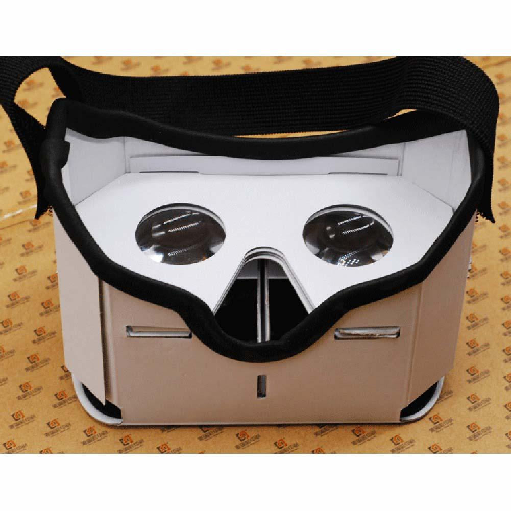 3D Google DIY VR BOX Virtual Reality Glasses Cardboard Game Movie Private Theater For Iphone Android Cellphone hot sale set of diy 3d virtual reality video glasses vr cardboard box for 5 0 inch smartphone