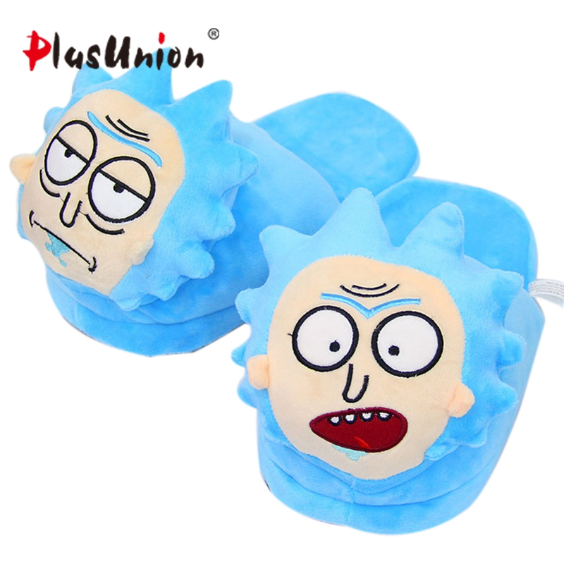 Cartoon Animal Emoji Plush Flat For Adult House Indoor Warm Slippers Women Furry Fluffy Shoes Home Winter Anime Slipper Unisex plush winter emoji slippers indoor animal furry house home men slipper with fur anime women cosplay unisex cartoon shoes adult