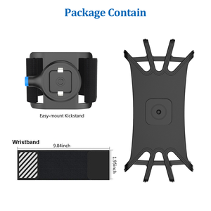 Image 3 - Sports Running Wristband Phone Holder Cover Universal Sport mobile phone Holder Outdoor Sport Phone Wrist Case