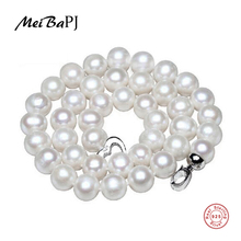10-11mm Large Natural Pearl Necklace Oferta especial Super Mother's Gift Wedding Jewelry