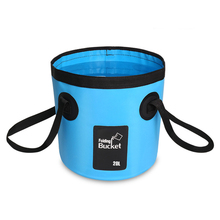 12L 20L Waterproof Water Bags Fishing Folding Bucket Portable Bucket Water Container Storage Carrier Bag