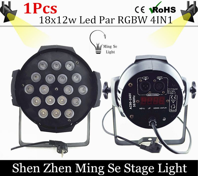 18x12w led Par lights RGBW 4in1led dmx512 disco lights professional stage dj equipment fast russia shipping 7x12w led par lights rgbw 4in1 flat par led dmx512 disco lights professional stage dj equipment