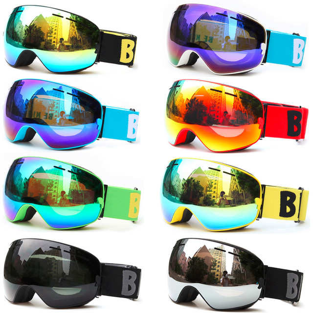 9c7c26a85ee BENICE Professional Ski Goggles Double Lens UV400 Anti-fog Adult Snowboard  Skiing Glasses Brand Women Men Snow Eyewear