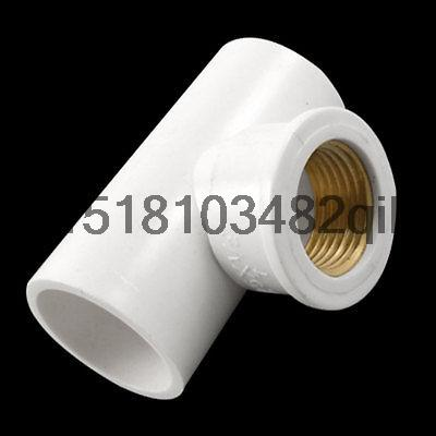 25mm x 25mm PVC Slip to 12 Brass Thread Pipe Female Tee Coupler Adapter