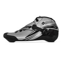 100% Оригинальные Bont Jet 2PT 195 мм Скорость конька Heatmoldable углеродного волокна загрузки Competetion гонки на коньках загрузки Patines обувь
