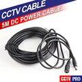 5 M Cable de Extensión de Alimentación Cable de Plomo Para La Cámara IP AC DC Adaptador de Cable de Extensión 12 V Adaptador de Corriente 5.5x2.1mm