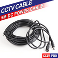 5M Power Supply Extension Cable Lead Cord For IP Camera AC DC Adapter Extension Cable 12V Power Adapter 5.5x2.1mm