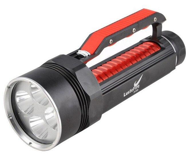 Tactique 8000LM 4x Cree XM L2 lumière blanche LED plongée sous marine lampe de poche photographie 18650 lampe de poche sous marine torche lampe de plongée