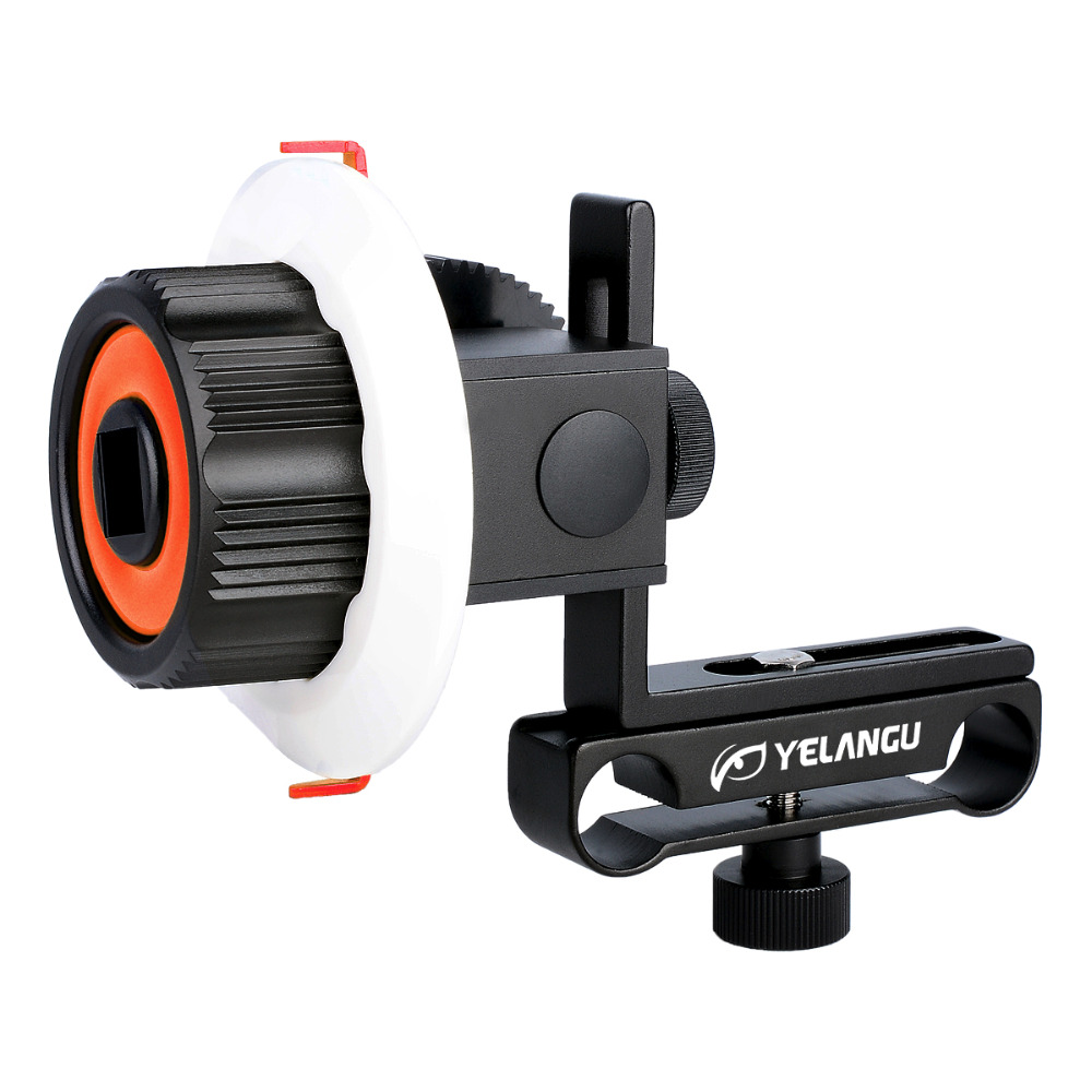 YELANGU Professional Aluminum Alloy Quick Assembling Accurate Follow Focus Fit 15mm Rod Rig 52mm ~ 86mm Lens For DSLR Camera