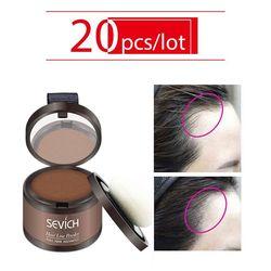 Sevich 7Color de pelo esponjoso en polvo 20 unids/lote negro cubre raíces de línea de pelo instantáneo Natural sombra polvo corrector de pelo