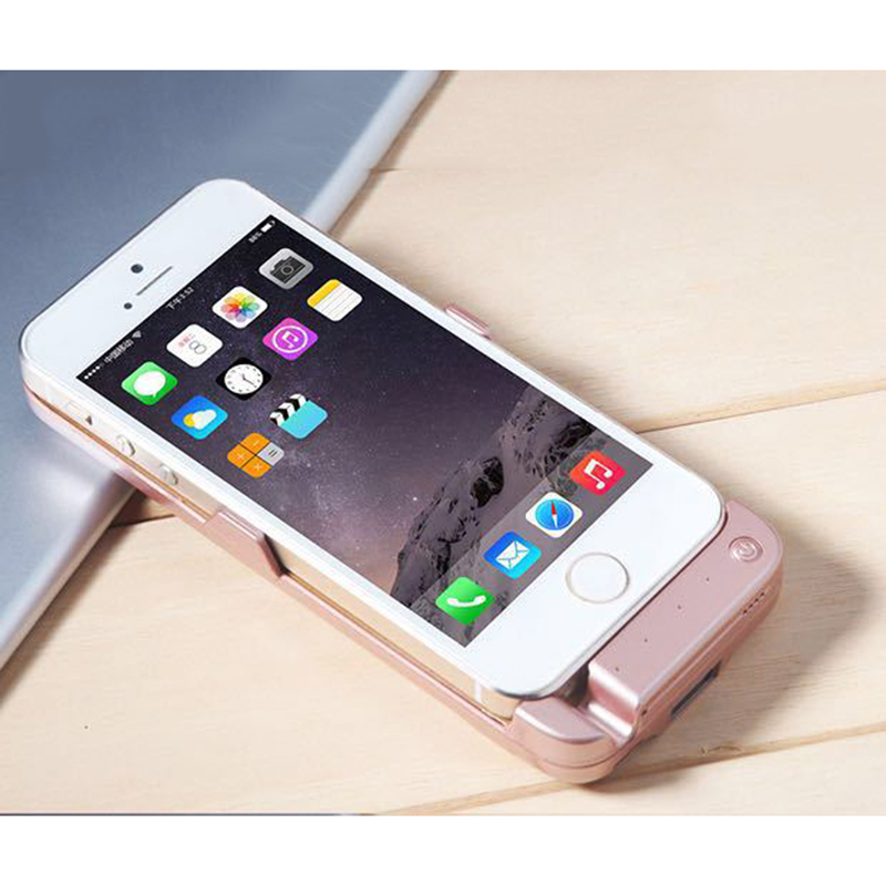 4200mAh Power Bank Cover Battery Case Charging for iphone 5 5s SE External Rechargeable Battery ...