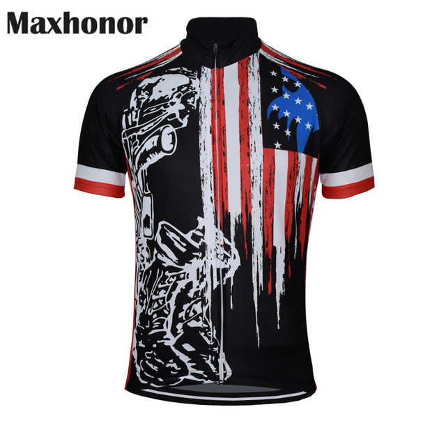 fbd84754f 2018 cycling jersey usa black cycling clothing red blue bicycle clothing  summer ropa ciclismo customized maxhonor wholesale