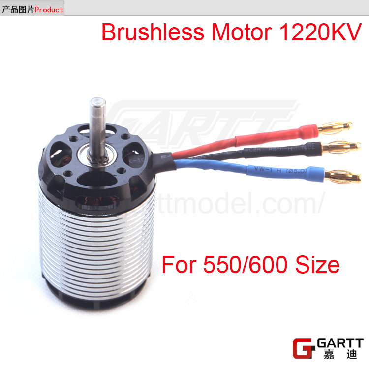 Freeshipping GARTT 1220KV 2100w Brushless Motor for 550/600 Align Trex RC Helicopter gartt helicopter parts 3600kv 210 w brushless motor for 250 align trex rc helicopter red