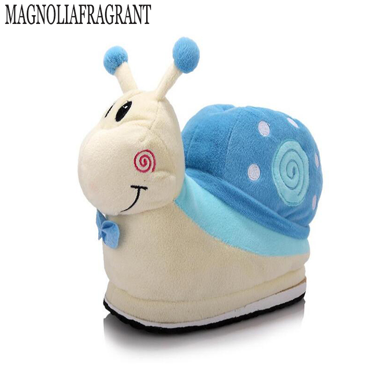 2017 autumn and winter Gaotong snail cartoon cotton slippers female models thick cotton trailer home comfortable and warm a211