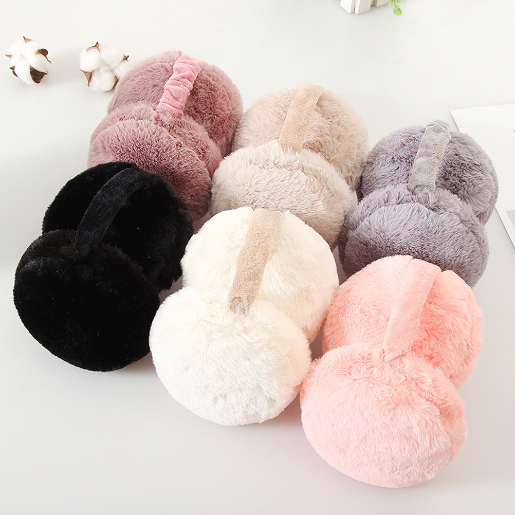 Foldable Earmuffs Cute Hamburger Ear Warmers Unisex Winter Warm Ear Covers