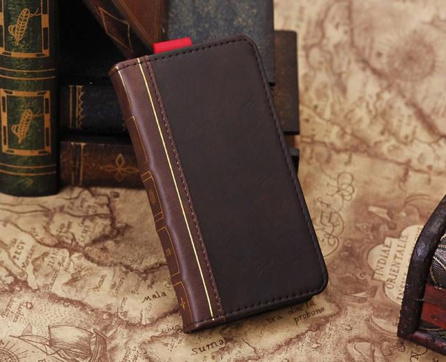 Bíblia Sagrada Livro Caso de luxo Para o iphone 5 5C 5S SE Vintage elegante de Alta Qualidade Carteira de Couro Tampa Do Telefone Fosco Bolso Titular