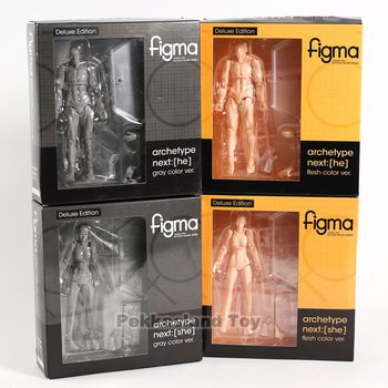 Figma 2.0 Deluxe Edition Archetype Next She Or He Flesh Grey Color Body Chan Kun PVC Action Figure Toys Gift 6