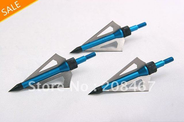 Free Shipping 12set/lot  3-blades New Aftershock Shooting Hunting Bow Arrow Broadheads
