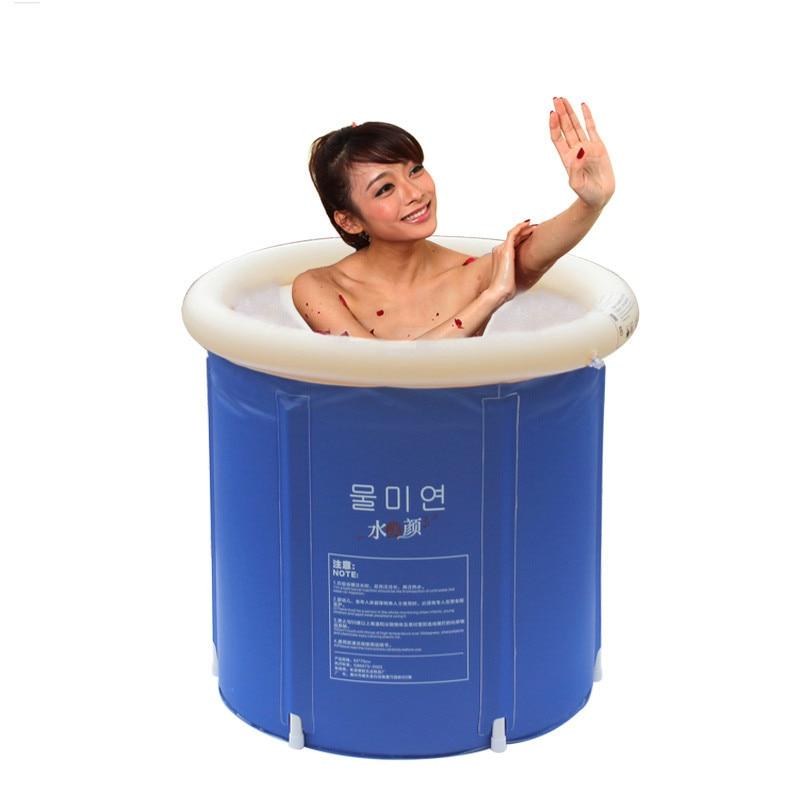 inflatable bath tub adults folding SPA bath bucket plastic bathtub ...