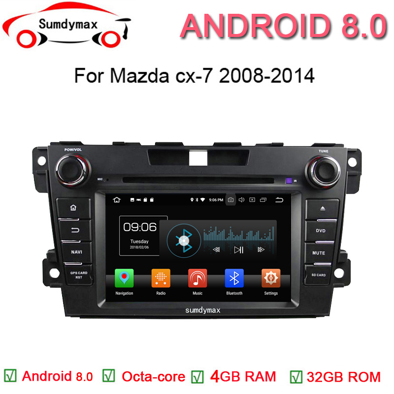 7inch Android 8.0 Car Audio Player For Mazda CX 7 2008