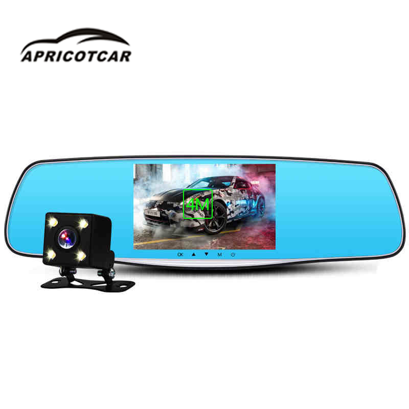 Car DVR Rearview-Mirror Car-Camera-Recorder Dual-Lens Night-Vision 1080P HD With Reversing-Image