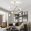 Скандинавский дизайн, хрустальный шар из розового золота, подвесной светильник, креативный дизайн, прохода, прикроватная тумбочка для гост...