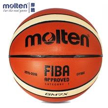 купить Original Molten GM7X Basketball Official Size 7 Men's Basketball Ball For Indoor Outdoor Training Free With Ball Needle+Mesh Net дешево
