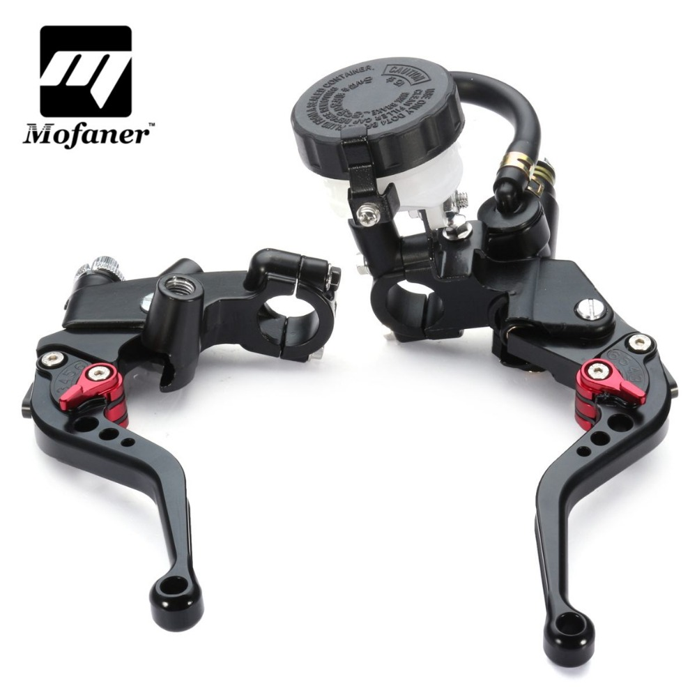 Motorcycle Hydraulic Clutch 22mm 7/8 Inch Handlebar Brake Clutch Master Cylinder Lever Reservoir 7 8 motorcycle hydraulic handlebar brake