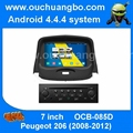 Ouchuangbo S160 platform peugeot 206 2008-2012 audio dvd stereo navigation with USB BT quad core android 4.4