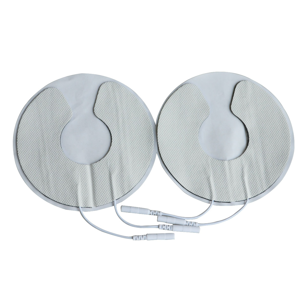 New 1Pair Breast Electrode Pads Chest Adhesive Patches Breast Physiotherapy Jack 2.0mm For Breast Massage