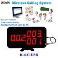 Беспроводной Официант Вызова Приемника Системы K-4-C-USB управлять вызова информации через ПК